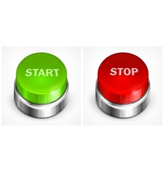 Button start and stop vector image vector image