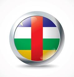 Central African Republic flag button vector image