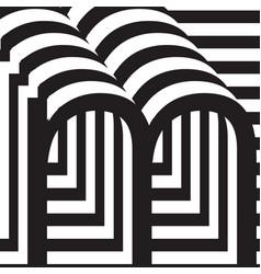 letter m design template vector image