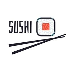Sushi bar or restaurant logo template vector image vector image