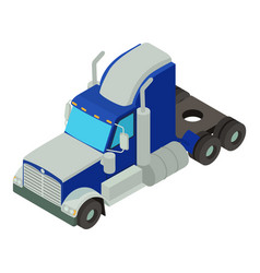 truck body icon isometric style vector image vector image