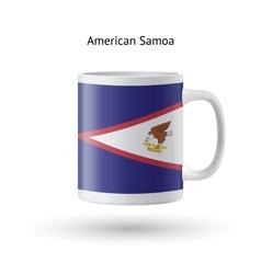 American Samoa flag souvenir mug on white vector image vector image
