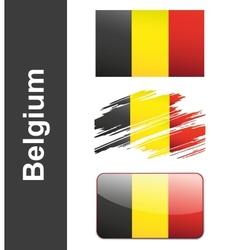 Flag Belgiumin vector image vector image