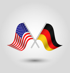 icon united states of america and germany vector image