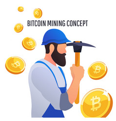 modern concept of digital crypto mining vector image vector image