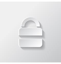 Padlock web icon vector image vector image