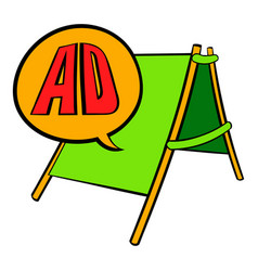sandwich board with ad letters icon cartoon vector image vector image