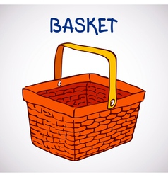 Shopping basket sketch icon vector image
