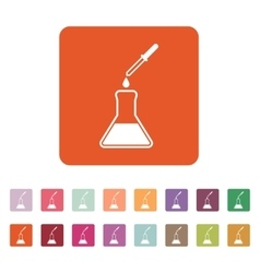 The chemistry icon Test and analysis genetics vector image vector image
