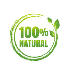 100 natural product white background vector