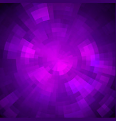 Abstract purple shiny concentric mosaic vector