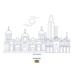 Addis ababa city skyline vector