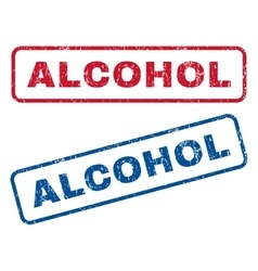 Alcohol Rubber Stamps vector image