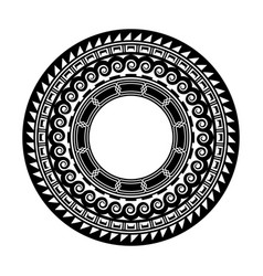 Ancient greek round mandala tattoo art vector