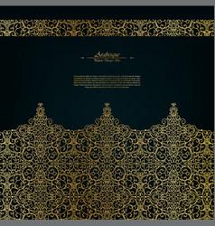 Arabesque eastern abstract vintage element dark vector