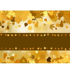 Autumn with colored leaves on bokeh effect EPS 8 vector