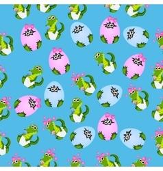 Baby crocodile or alligator vector