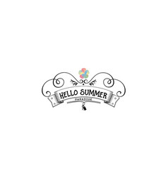 badge as part of the design - summer sticker vector image