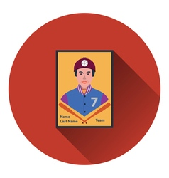 Baseball card icon vector image