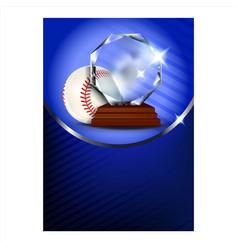 baseball regional sportive award poster vector image