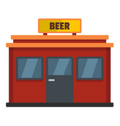 beer shop icon flat style vector image