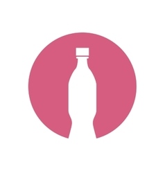 bottle white pictogram color circle vector image