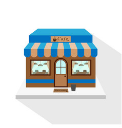 cafe icon with long flat shadow on white vector image