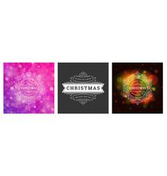 christmas photo overlays vintage typographic vector image