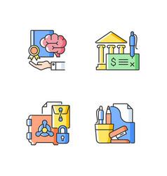 Corporate intellectual property rgb color icon vector