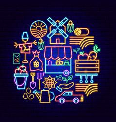 countryside neon concept vector image