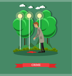 Crime scene investigation vector