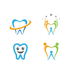 Dental logo template icon design vector