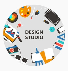 Design studio emblem vector