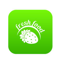 farm fresh food icon green vector image