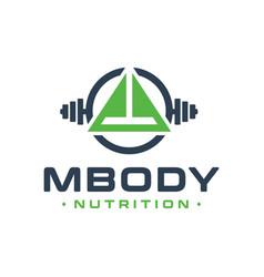 fitness sports education logo vector image