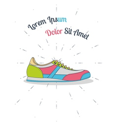 Flat sneaker style hipster vector