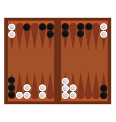 Game backgammon on white background vector