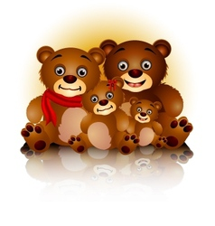 happy bear family in harmony vector image