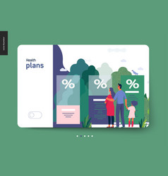 Health plans - medical insurance template vector