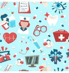 Hospital seamless pattern vector image