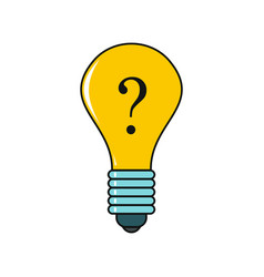 Idea cartoon icon isolated on a white background vector