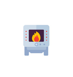 Industrial oven icon vector