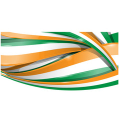 ireland horizontal background flag vetcor vector image