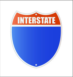 Isolated interstate sign - american blue and red vector