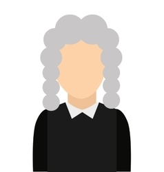 judge avatar isolated icon vector image