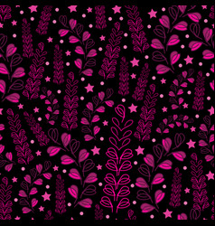 lavender nights-love in parise seamless repeat vector image