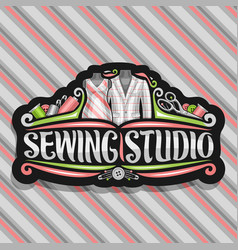 logo for sewing studio vector image