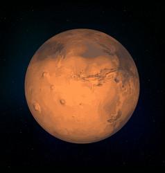 mars realistic planet vector image