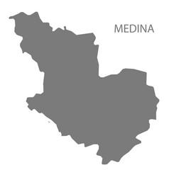 Medina saudi arabia map grey vector