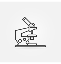 Microscope linear icon vector